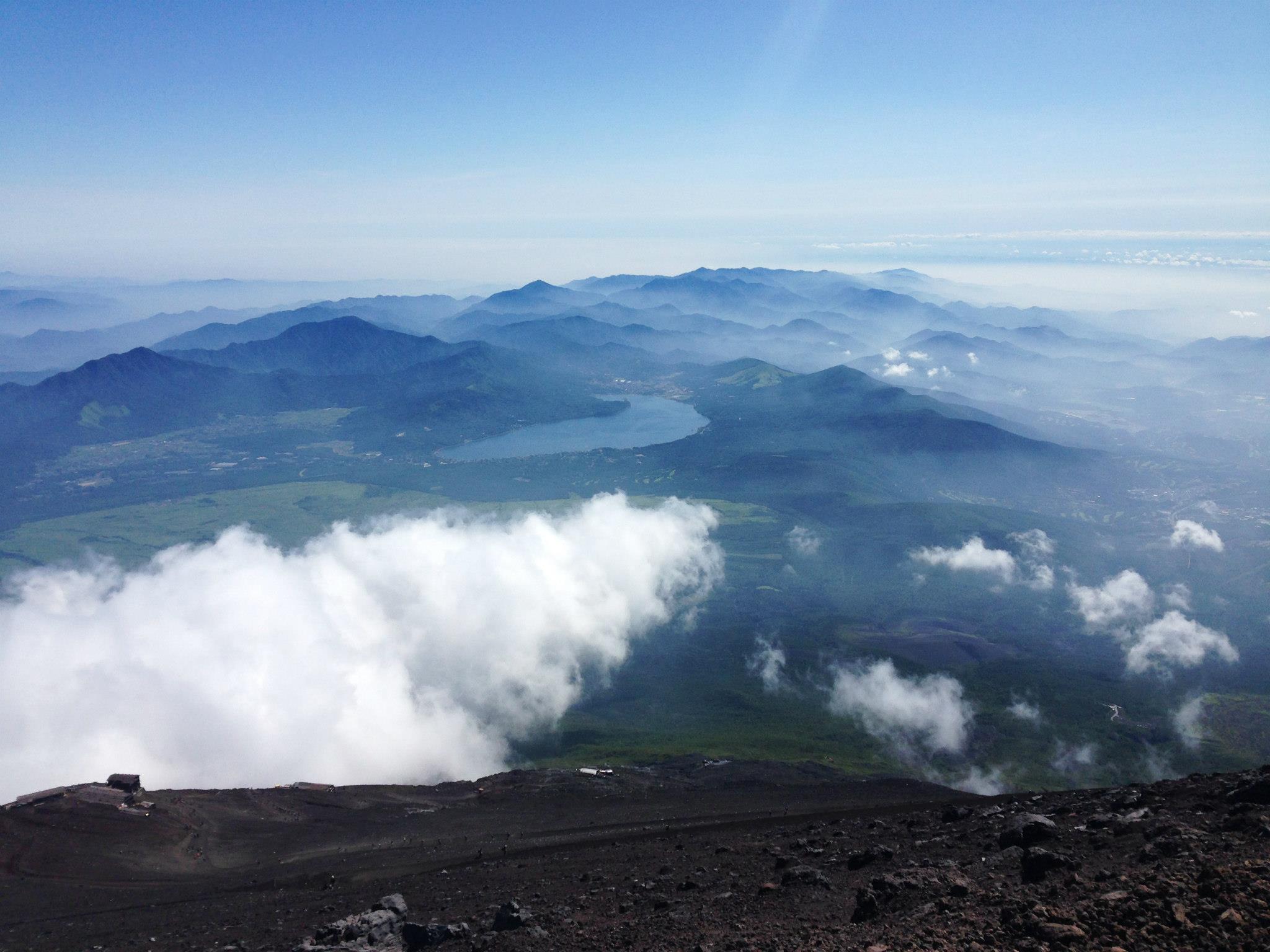富士山下山の様子